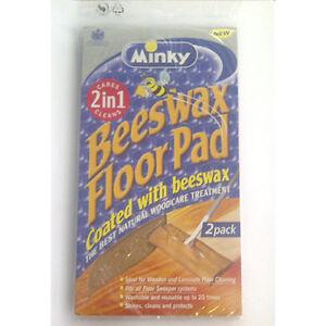 Minky Beeswax Floor Pad 24cm x 28cm Natural Woodcare Treatment