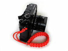 Red Paracord Wrist Strap for DSLR Compact Cameras Fuji Canon Nikon Sony etc