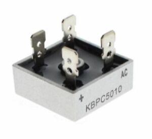 10 x KBPC5010 1000 Volt 50 AMP  Bridge Rectifier  Metal Case 1000V uk seller