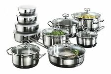 Karcher Jasmin Induction Stainless Steel Pots 20 Pcs Pans Saucepan Sets
