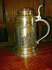 Rare Munich Pewter Lidded Beer Stein-Germany