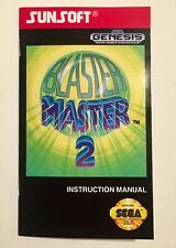 Blaster Master 2 - REPRODUCTION Manual - Sega Genesis - Instruction Booklet US