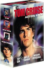 TOM CRUISE ACTIONPACK: MISSION IMPOSSIBLE/TOP GUN/TAGE DES DONNERS  3 DVD NEU