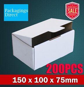 200x Mailing Box 150 x 100 x 75mm White Mailing Boxes Shipping Cardboard Carton