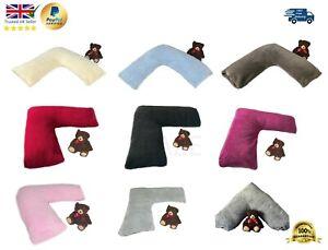 Fleece V Pillowcase V shaped Cover Only Teddy Bear Sherpa Fleece Super Soft Case