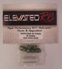 ELEVATED RC Switch Nuts For Futaba 9C Radios Green NIP