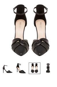 Nine West Tridth Black Strap Stiletto Heel Size 7.5