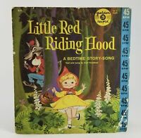 LITTLE RED RIDING HOOD Golden Record 45rpm Bedtime Story- Song 634, Vintage