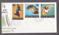 Papua New Guinea 1974 Birds Heads set 3 illustrated FDC First Day Cover