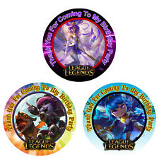 12 League of Legends Birthday Party Favor Stickers (Bags Not Included) #1