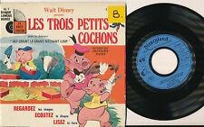 """JACQUES DUBY LIVRE DISQUE 7"""" FRANCE LES TROIS PETITS COCHONS DISNEYLAND"""
