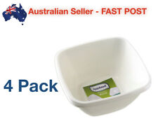 4 Pack Bowl Nut Plastic 14.7 x 14.7cm White Plate Party Disposable Tableware NEW