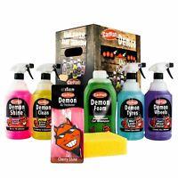 CarPlan Demon Car Exterior Cleaning Valet Gift Set Tyres Wheels Shampoo Shine
