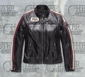 Harley Davidson Women's Almena CE-Certified Leather Jacket, size  L  HD-97005-18