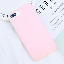 For iPhone X 8 7 6s Plus Ultra Thin Slim Rubber TPU Shockproof Case Soft Cover