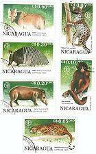 NICARAGUA - Bustina 6 francobolli serie ANIMALI SELVAGGI