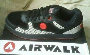 New UK Size 9 Airwalk Prototype 400F Black Trainers Skate Shoes Footwear Sneaker