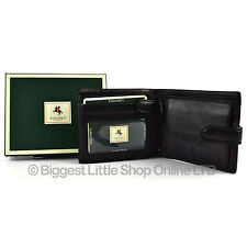 Mens QUALITY Leather Wallet by VISCONTI Italian BLack Gift Boxed NEW Style Tab