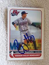 Tampa Bay Rays Leonardo Reginatto Signed 2012 Hudson Valley Renegades Card Auto