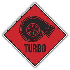 TURBO  warning decal / sticker 100x100mm  VW EURO RAT