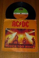 "AC/DC-Touch demasiado - 1980 Reino Unido 3-track 7"" SINGLE"