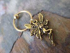 Pretty Gold Fairy Cartilage Piercing Captive Ring Tragus Earring 16G (1.2mm) Fae