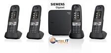 Siemens Gigaset E630A Cordless ECO DECT Phone with 4 x E630H +Answering Machine