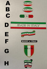 Made in Italy decals choice of 8 styles 2 per sale