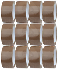 BROWN PACKING TAPE - 12 rolls - 48mm x 66m - For Packaging Parcels/Boxes/Cartons