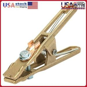 Copper Earth Ground Cable Clip Welding Manual Welder Electrode Clamp (260A