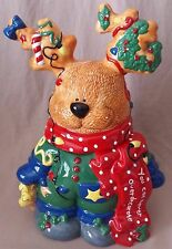 Lefton Reindeer Cookie Jar Canister Christmas Holiday M. Rupert CTM12139 1998