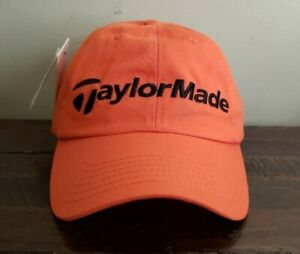 NWT TaylorMade tmax Gear Relaxed Fit Orange Adjustable Golf Hat.  Free Ship