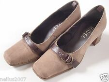 Ladies Girls Tall & Small Ravel Beaver Brown Heeled Court Shoes UK Size 2.5