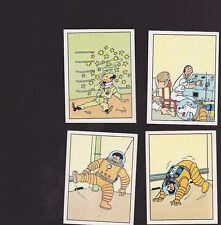 Herge Tintin Panini 1989 autocollant  103 104  105 106