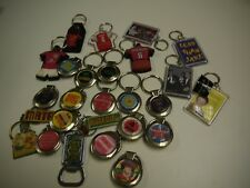 ASSORTED METAL,PLASTIC AND RUBBER KEYRINGS