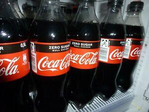 12Flaschen Cola Zero ohne Zucker 0,5 Ltr. 6x 0,25 Einwegpfand  kurzes MHD30.6.21
