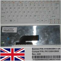 Clavier Qwerty UK IBM Lenovo Ideapad S10-2 PK1308H3B65, 11S25008930 Blanc