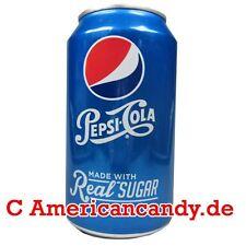 Nouveauté: 6x 355ml PEPSI Real Sugar (Américain Pepsi avec véritable sucre)