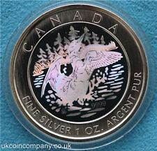 2002 Canada Silver Anniversary Loon Fine Silver Hologram $5 Five Dollar Coin