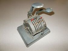 Vintage F and E office business payroll payment Lightning Check Writer machine