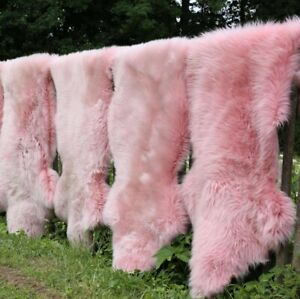Lambskin Merino Pink Sheepskin Cuddly Soft Deco Runner Real Fur Carpet