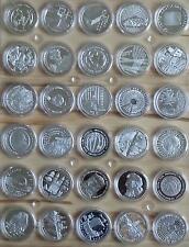 10 Euro Gedenkmünzen Silber PP VFS von 2002 - 2010 in Kapseln - 50 Stück