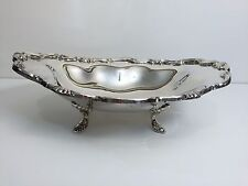 """Vintage Georgetown F.B. Rogers Silverplate Oval Footed Bowl, 13 3/4"""" x 10"""" x 4"""""""