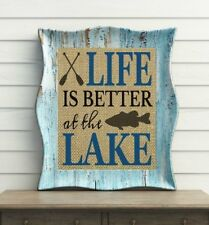 LIFE IS BETTER AT THE LAKE ~ 100% BURLAP ~ Lake House Decor ~ Lake House Sign