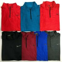 Men's Big and Tall Nike Dri-Fit Breathe Polyester Quarter Zip Long Sleeve Shirt