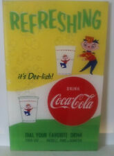 Coca Cola Dee Lish Vending Machine Drink Cup Sign NOS  LAST ONE!
