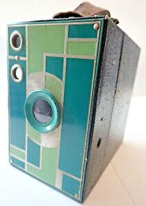 Kodak Beau Brownie 1930s Turquoise Art Deco Vintage Camera