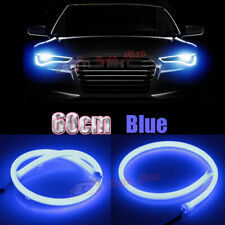 2x 60cm Blue LED Strip Lights for Car Motorcycle Headlight DRL Flexible Tube