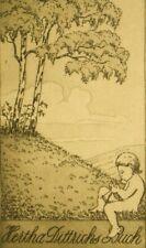 Otto Ehrhardt pencil signed; 1900's original Ex Libris etching