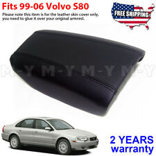 Fits 1999-2006 Volvo S80 Leather Center Console Lid Armrest Cover Skin Black